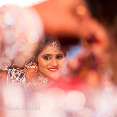Bride Wearing Jewellery